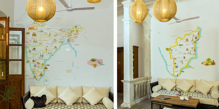 la villa dessins muraux