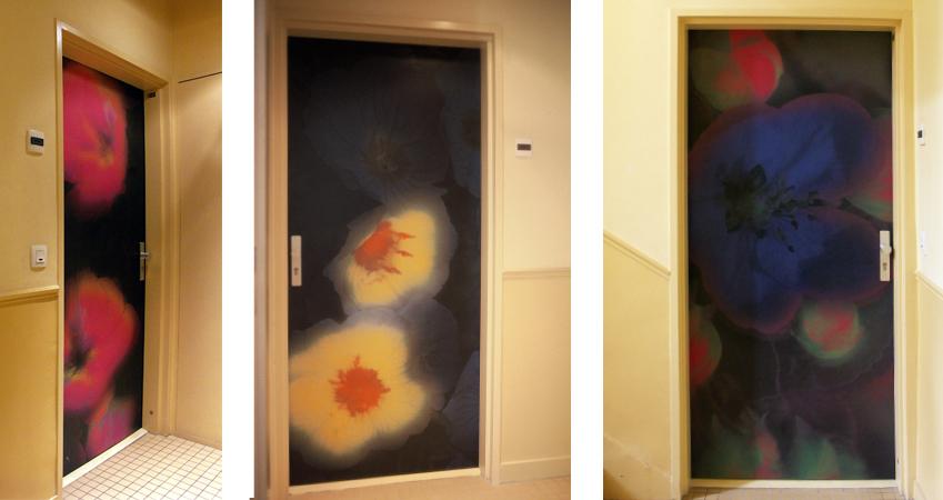 décors portes palières logements aux Lilas - Lesprit & Patenaires architectes -