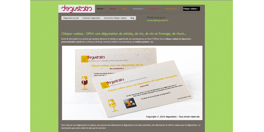 degustatio site internet