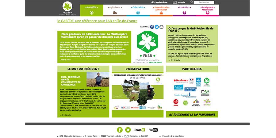 webdesign du GAB ÎDF